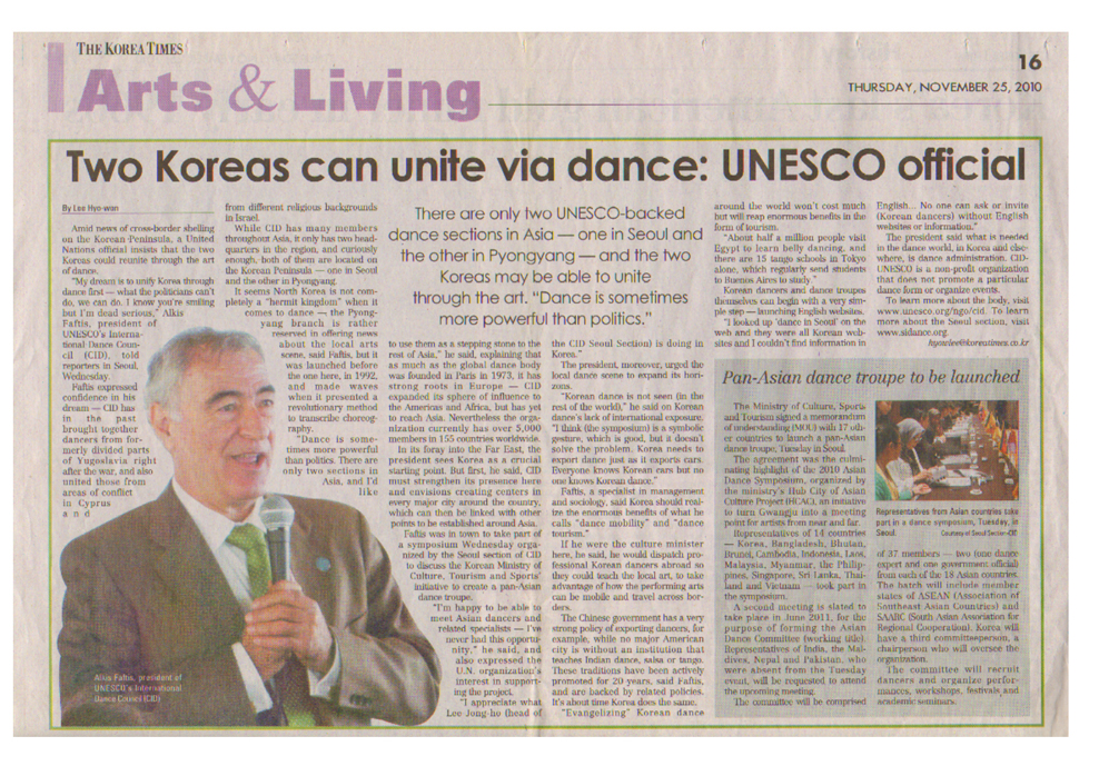 Mr. Raftis Korean Times 25 11 2010